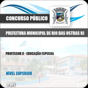 Apostila Pref Rio das Ostras RJ 2019 Professor II Educação Especial