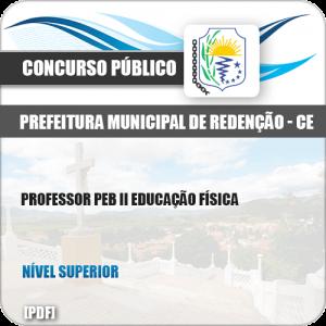 Apostila Pref de Redenção CE 2019 Professor PEB II Educação Física