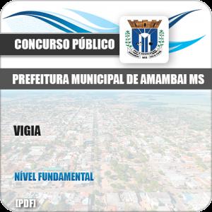 Apostila Concurso Público Pref Amambai MS 2019 Vigia