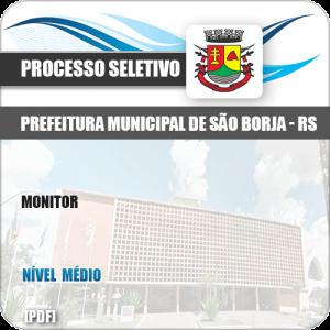 Apostila Processo Seletivo Pref São Borja RS 2019 Monitor