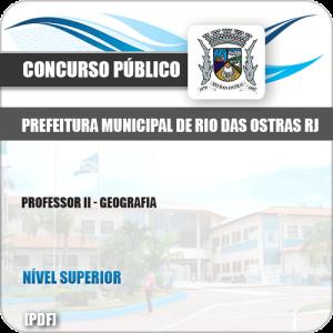 Apostila Pref Rio das Ostras RJ 2019 Professor II Geografia