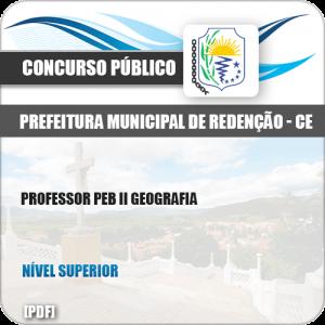 Apostila Pref de Redenção CE 2019 Professor PEB II Geografia