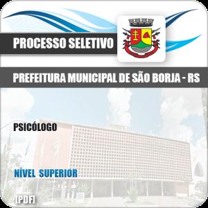 Apostila Seletivo Processo Pref São Borja RS 2019 Psicólogo