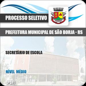 Apostila Seletivo Pref São Borja RS 2019 Secretário de Escola