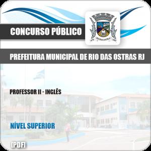 Apostila Pref Rio das Ostras RJ 2019 Professor II Inglês