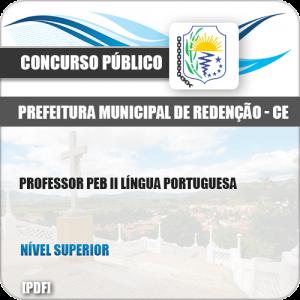 Apostila Pref Redenção CE 2019 Professor PEB II Língua Portuguesa