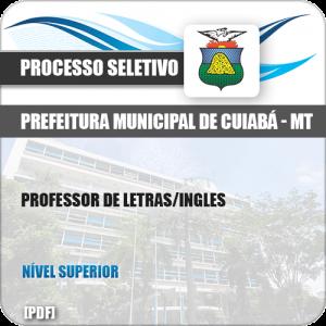 Apostila Seletivo Pref Cuiabá MT 2019 Professor de Letras Inglês