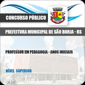 Apostila Pref São Borja RS 2019 Prof Pedagogia Anos Iniciais