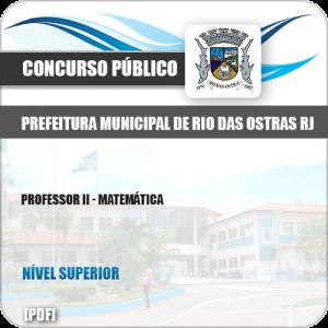 Apostila Pref Rio das Ostras RJ 2019 Professor II Matemática