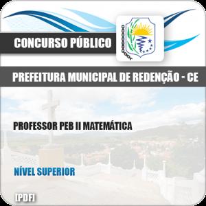 Apostila Pref Redenção CE 2019 Professor PEB II Matemática