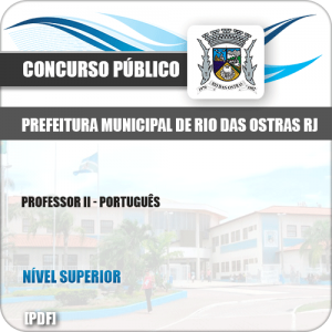 Apostila Pref Rio das Ostras RJ 2019 Professor II Português