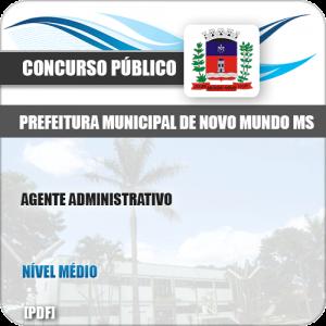 Apostila Concurso Pref Novo Mundo MS 2019 Agente Administrativo