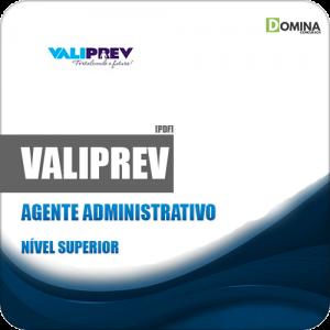 Apostila Concurso Valiprev SP 2019 Agente Administrativo