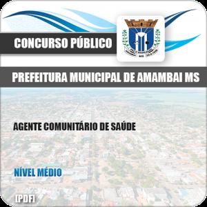 Apostila Pref Amambai MS 2019 Agente Comunitário de Saúde