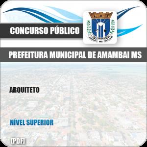 Apostila Concurso Público Pref Amambai MS 2019 Arquiteto