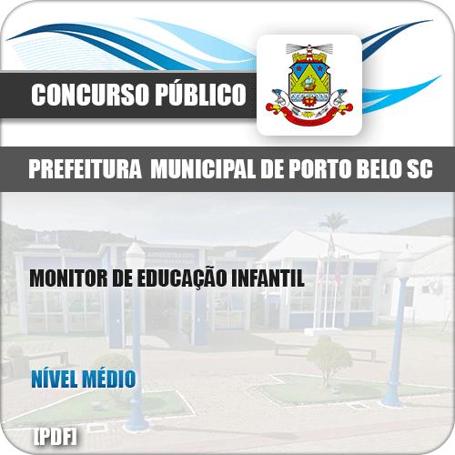 Apostila Pref de Porto Belo SC 2019 Monitor de Educação Infantil
