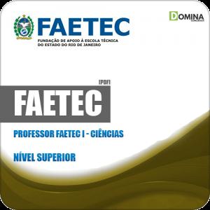 Apostila Concurso FAETEC RJ 2019 Professor FAETEC I Ciências