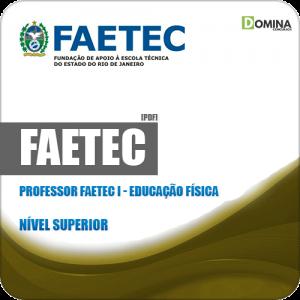 Apostila Concurso FAETEC RJ 2019 Prof FAETEC I Educação Física