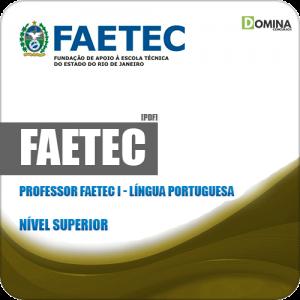 Apostila Concurso FAETEC RJ 2019 Prof FAETEC I Língua Portuguesa