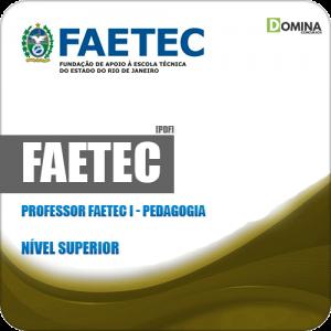 Apostila Concurso FAETEC RJ 2019 Prof FAETEC I Pedagogia