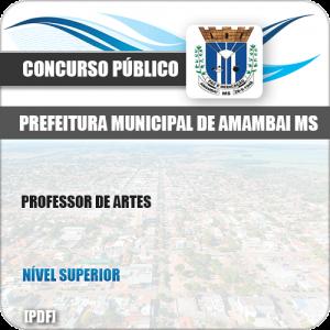 Apostila Concurso Pref Amambai MS 2019 Professor de Artes