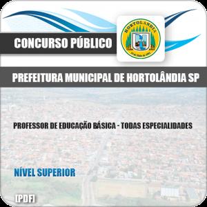 Apostila Pref Hortolândia SP 2019 Professor de Educação Básica