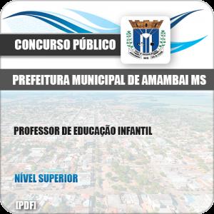 Apostila Pref Amambai MS 2019 Professor de Educação Infantil
