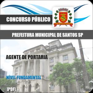 Apostila Concurso Pref Santos SP 2020 Agente de Portaria