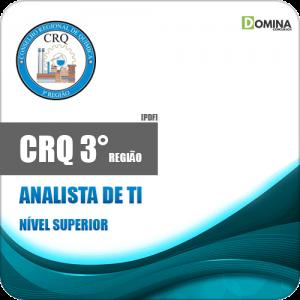 Apostila Concurso Público CRQ 3 Região 2020 Analista de TI