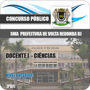 Apostila SMA Volta Redonda RJ 2019 Docente I Ciências
