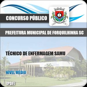 Apostila Pref de Forquilhinha SC 2020 Técnico Enfermagem SAMU