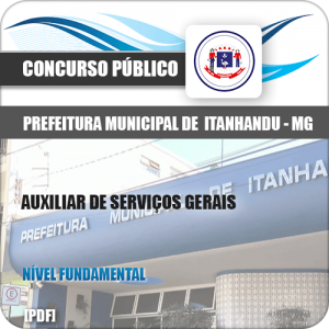 Apostila Pref de Itanhandu MG 2020 Auxiliar Serviços Gerais