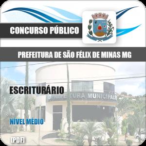 Apostila Concurso Pref São Félix Minas MG 2020 Escriturário
