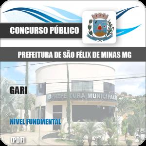 Apostila Concurso Público Pref São Félix Minas MG 2020 Gari