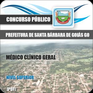 Apostila Pref Santa Bárbara Goiás GO 2020 Médico Clínico Geral