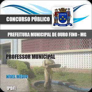 Apostila Concurso Pref Ouro Fino MG 2020 Professor Municipal