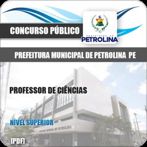 Apostila Seletivo Pref de Petrolina PE 2019 Professor de Ciências