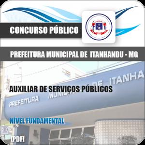 Apostila Pref de Itanhandu MG 2020 Auxiliar de Serviços Públicos