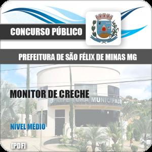 Apostila Concurso Pref São Félix Minas MG 2020 Monitor Creche