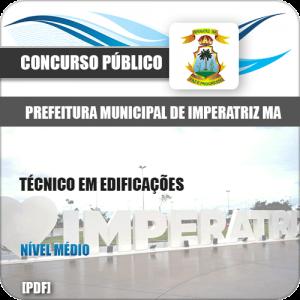 Apostila Concurso Pref Imperatriz MA 2020 Técnico Edificações