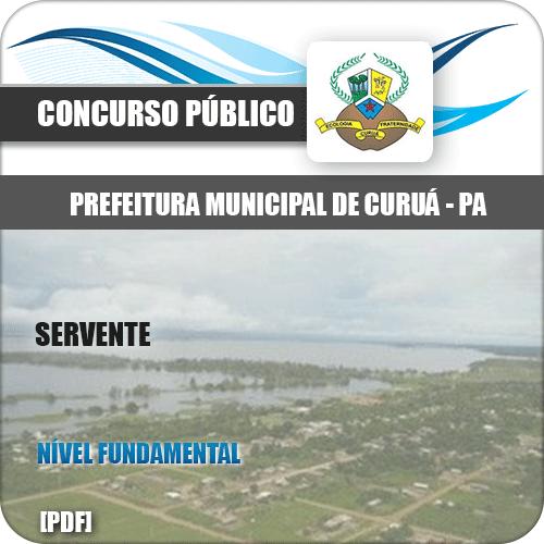 Apostila Concurso Público Pref de Curuá PA 2020 Servente