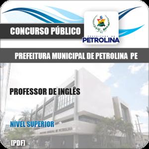 Apostila Seletivo Pref de Petrolina PE 2019 Professor de Inglês