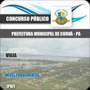 Apostila Concurso Público Pref de Curuá PA 2020 Vigia