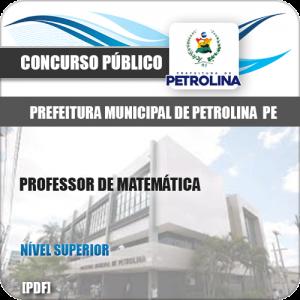 Apostila Pref de Petrolina PE 2019 Professor de Matemática