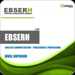 Apostila EBSERH 2020 Analista Adm Publicidade Propaganda