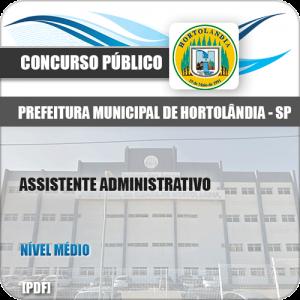 Apostila Pref Hortolândia SP 2020 Assistente Administrativo