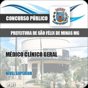 Apostila Pref São Félix Minas MG 2020 Médico Clínico Geral