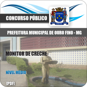 Apostila Concurso Pref Ouro Fino MG 2020 Monitor de Creche