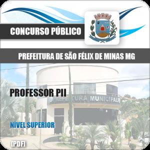 Apostila Concurso Pref São Félix Minas MG 2020 Professor PII