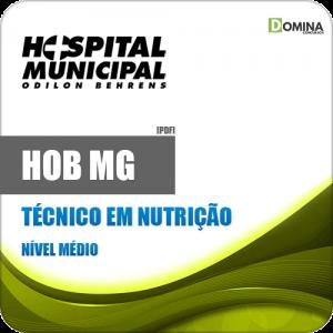 Apostila Concurso Público HOB MG 2020 Técnico em Nutrição